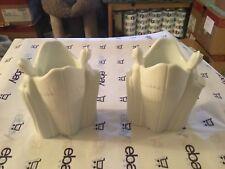 Avon Double angel bisque white vase / candle holder