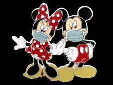 Fantasy Pin - Disney Mickey & Minnie Mouse in Face Mask at the Park