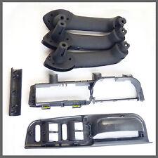 New Black Inner Door Handle Cover Grab Trim Bezel Bracket For VW MK4 Set 0f 6
