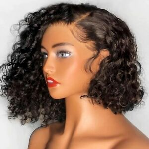 8A 130% Density Unprocessed Brazillian 13x4 Lace Front Curly Human Hair Wig