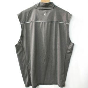Johnnie O Mens Zip Golf Vest Size L Gray