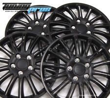 """Snap-On Hubcap 15"""" Inch Wheel Rim Skin Cover 4pcs Matte Black - 15 Inches #007"""
