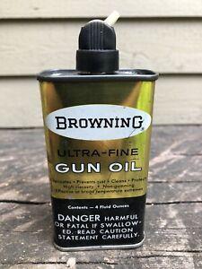 Vintage Browning Gun Oil Handy Oiler Tin Can Ultra Fine Rifle Advertising Cabin