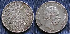 MONETA COIN GERMAN STATES GERMANIA SACHSEN ALBERT KOENIG ZWEI MARK 1901 ARGENTO
