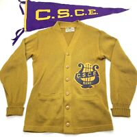 C.S.C.E. Colorado State College Of Education BAND Vtg 50s Wool Sweater & Pennant