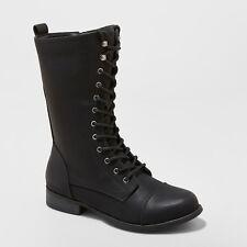 Women's Lene Faux Leather Lace Up Fashion Bootie - Universal Thread™ Black 8.5