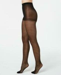 INC International Concepts Striped Tights Color Black Various Sizes.