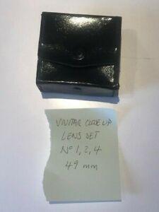 VIVITAR  CLOSE UP LENS SET ~ No. 1, 2 & 4 ~ 49mm ~ BOXED