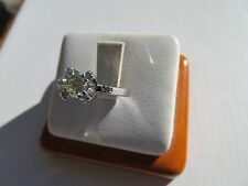 Estate 18K White Gold Diamond Cocktail or Engagement Ring 4.9 Grams Size 4.75