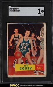 1957 Topps Basketball Bob Cousy ROOKIE RC #17 SGC 1 PR