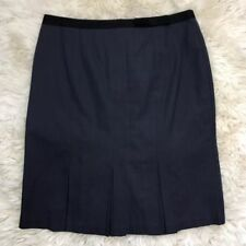 Knee-Length Wear to Work Striped Skirts for Women