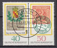 BRD 1978 MER. n. 980-981 ZD timbrato Berlin 12, senza elastico Top! (16322)