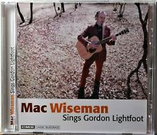 CD Mac Wiseman Sings Gordon Lightfoot Did She Mention My Name Bluegrass NICE