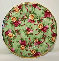 Old Country Roses GREEN CHINTZ Salad Plate Royal Albert Ruby Celebration China