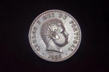 500 Reis - 1895 - D. Carlos I (1889-1908) - Portugal - Silver