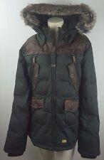 Khujo señores Parka/chaqueta-talla S-invierno chaqueta con piel sintética/cuero artificial