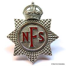 Genuine: National Fire Service Brigade NFS ~British Army Military Cap Badge B