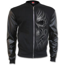 Spiral - Urban Fashion Bomber Jacket With Pu Leather Sleeves (Giacca Uomo XL)