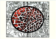 GILBERT & GEORGE POSTCARD 1998 - The Rudimentary Pictures. Blood City