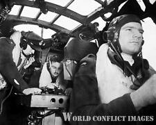 RAF WW2 Armstrong Whitworth Whitley Mk II Bomber Cockpit Crew 8x10 Photo WWII
