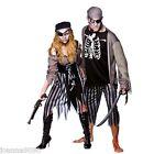HOMBRE MUJER NUEVO Zombie feroz Halloween Pirata Del Caribe Disfraz