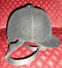 Olympian Black Riding Helmet Size 6 7/8