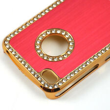 Luxury Bling Diamond Crystal Hard Back Case Cover For APPLE iPhone 4 4S Red