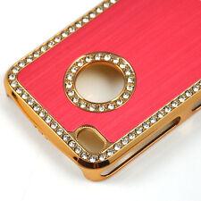 LUXE Bling Diamant Cristal dur Coque arrière pour Apple iPhone 4 4S Rouge