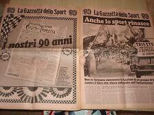 LA GAZZETTA DELLO SPORT 1896-1986 SPECIALE 90 ANNI DI SPORT 80 PAGINE RARO