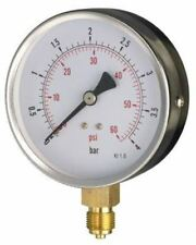 100mm Pressure Gauge - General Purpose Bottom OR Back Entry Dry 1.6% Acc