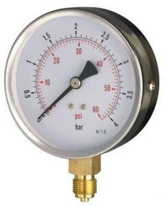 100mm Pressure Gauge - General Purpose Bottom OR Back Entry Dry 1.6% Acc