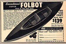 1951 Print Ad Folbot Folding Boats Long Island City,NY