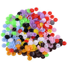 100sets T5 10 Colors Mixed Plastic Resin Snaps Pliers Buttons Stud Press Popper~