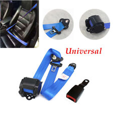 Universal 3-point Car Truck Safety Belt Seat Strap Buckle Metal Plate Accessory