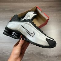 MENS NIKE SHOX R4 SILVER BLACK TRAINERS SHOES SIZE UK7 US8 EUR41 104265 045
