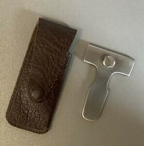 Adjustable Steel Pipe Reamer in Leather Pouch, Un-used, Pipe Smokers Tool.