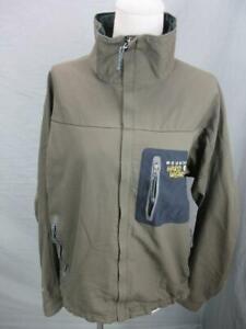 Mountain Hardwear Size M Mens Khaki Full Zip Nylon No Hood Track Jacket T701