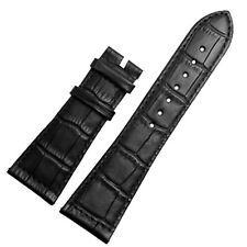 New 26mm x 20mm Black Leather Watch Strap Band Compatible with FM 6000 H watch