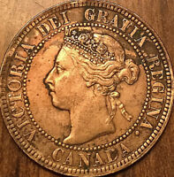 1899 CANADA LARGE CENT LARGE 1 CENT PENNY - Cleaned