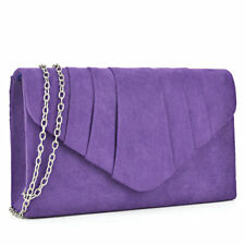 Women Velvety Evening Clutch with Removable Chain Strap Wallet Purse Handbag