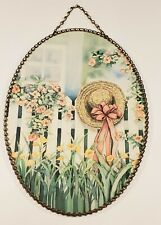 "Victorian Flue Cover 8""X11"" Vintage Gallery Graphics Picture Bonnet Hat Garden"