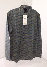 QUICKSILVER MEN'S DREAM WEAVER L/S BUTTON UP SHIRT MULTICOLOR SM NWT $58