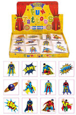 72 Super Hero Temporary Tattoos (6 Bags Of 12) - Party Bag Fillers Kids