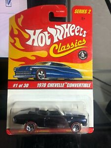 Hot Wheels Classics Red 1970 Chevelle Convertible BLUE #1 of 30 Series 2 VHTF