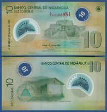 NIKARAGUA / NICARAGUA 10 Cor. L.2007 (2012) Polymer UNC  P.201 b
