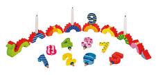 Goki Wooden Birthday Snake Train Children's Birthday Party Decoration Candles