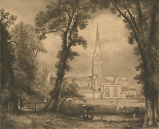 Early 20th Century Etching - Salisbury Cathedral