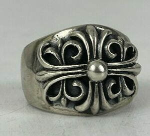 Chrome Hearts Sterling Silver Cross Ring SZ 11.5