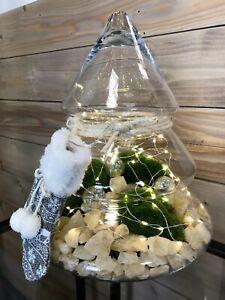 Candy Jar, Biscotti Storage Jar, Christmas Tree Shape bonbon jar container 30cm