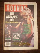 SOUNDS 1989 OCT 28 MOTLEY CRUE IRON MAIDEN WOLFHOUNDS